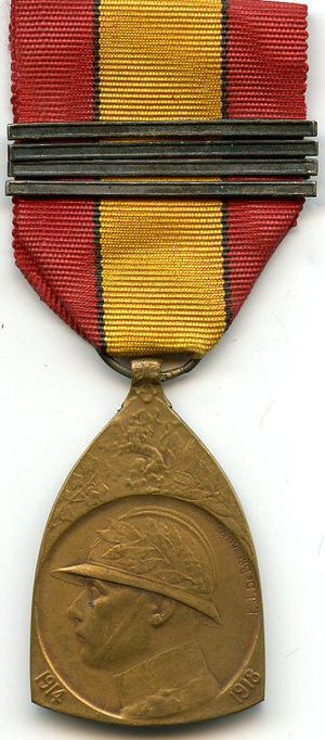 Commemorative Medal of the 1914–1918 War - 1914–1918 Commemorative War Medal (obverse)