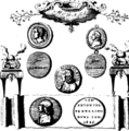 Medals, coins, great-seals, impressions, from the elaborate works of Thomas Simon, chief Engraver of the Mint Fleuron T138030-7.png