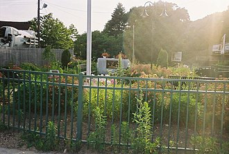 Medford (LIRR station) - Image: Medford Station 9 11 Memorial Garden