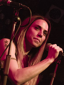 Melanie C performing with the SAS Band
