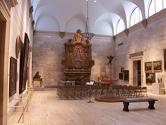 Memorial Art Gallery - The fountain court in the main gallery