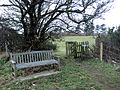 Memorial bench on major footpath - geograph.org.uk - 1154500.jpg