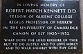 Memorial to Robert Hatch Kennett in Ely Cathedral.JPG