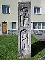 Memorial to the builders of Eger by László Gömbös (S) in Eger, 2016 Hungary.jpg