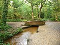 Merley, stream and bridge in Delph Woods - geograph.org.uk - 1417748.jpg