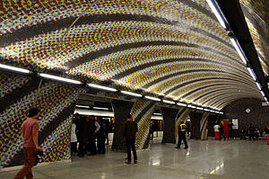 Szent Gellért tér (Budapest Metro) - Image: Metro 4, M4, Line 4 (Budapest Metro), Szent Gellért tér állomás