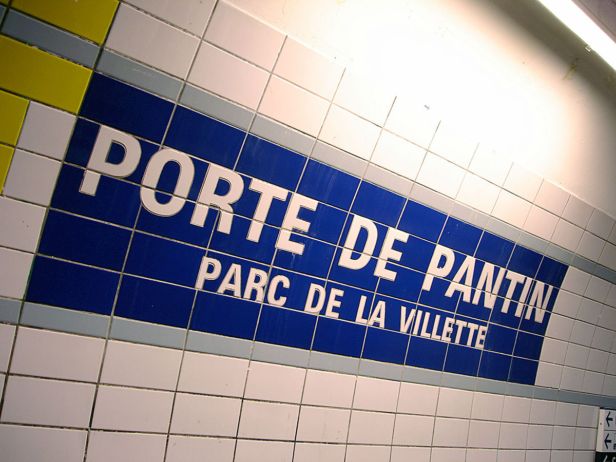 Porte de pantin m tro paris wikipedia - Station service porte de pantin ...