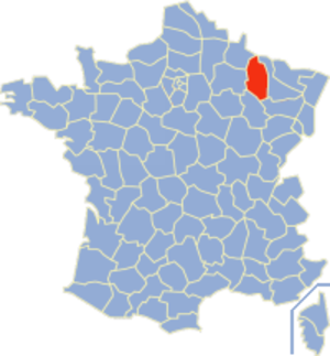 Communes of the Meuse department - Image: Meuse Position
