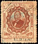 Mexico 1879 documentary revenue 63 S.L. de la Paz.jpg