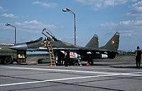 MiG-29 at Preschen (East Germany) in 1990 (11031979596).jpg