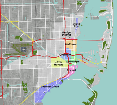 Miami – Travel guide at Wikivoyage on mall of miami map, miami crime map, museum park miami map, art basel miami map, east miami map, miami trolley map, wynwood miami map, little havana miami map, miami va hospital map, silver bluff miami map, sofitel miami map, brickell miami map, city of miami map, south miami city limits map, miracle mile miami map, miami dade map, watson island miami map, miami coral gables map, airport miami map, sunset miami map,