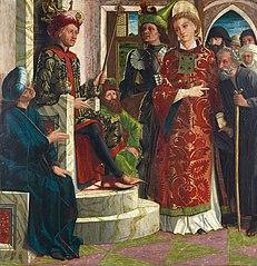 Der hl. Laurentius vor Kaiser Decius