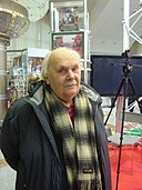 Mihas Kanstancinavich Mickievich - on a book exhibition in Minsk city - 12 February 2015 AD - 1.JPG