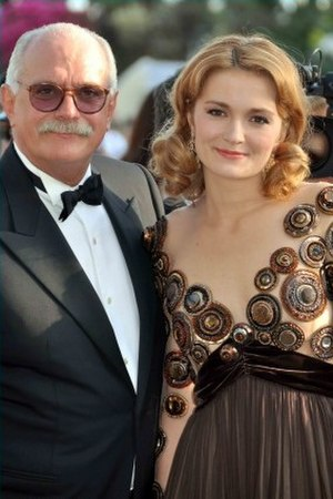 Nikita Mikhalkov - Mikhalkov and his daughter Nadya at the 2010 Cannes Film Festival