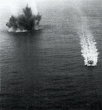 Operation End Sweep - Mine explosion Haiphong Harbor 1973