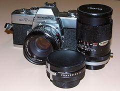 Minolta SRT-101 35mm Manual Focus SLR Film Camera, Through-The-Lens Exposure Metering - TTL, 2nd Generation, Circa 1970 - 1973 (14487366822).jpg
