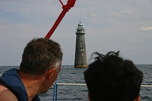 Minot's Ledge Light - Minots Ledge Light as seen from a passing sailing vessel