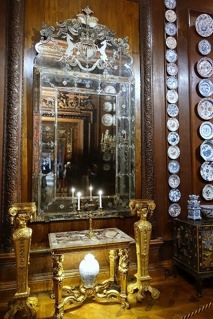 Chatsworth House History: File:Mirror By John Gumley, Signed And Dated 1703