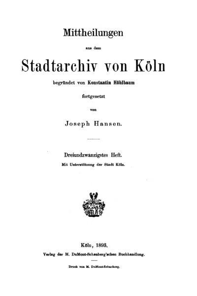 File:Mitteilungen aus dem Stadtarchiv von Köln 1893-23.djvu