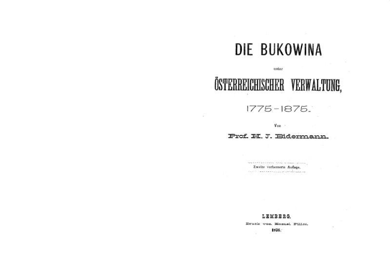 File:Mnib047-Bidermann-DieBukowinaUnterOesterreichischerVerwaltung1775-1875.djvu