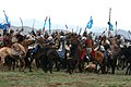 Mock Mongolian battle at Khaan Quest 07.jpg