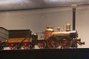 Saxonia (locomotive) - A model of the Saxonia at the Deutsches Historisches Museum.