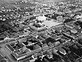 Mohács 1941, légifotó, Széchenyi tér, Fogadalmi Templom. Fortepan 31231.jpg