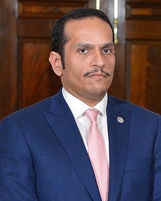 Mohammed bin Abdulrahman bin Jassim Al Thani - Image: Mohammed bin Abdulrahman al Thani (cropped)