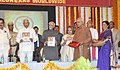 Mohd. Hamid Ansari releasing the book of the Catholic Association at the Valedictory Function of the centenary celebrations of the Catholic Association of South Kanara, in Mangalore. The Governor of Karnataka.jpg