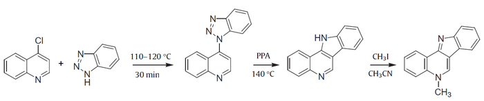 Molina's synthesis of isocryptolepine.png