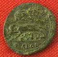 Monetiere di fi, moneta romana repubblicana con fondazione di roma (lupa) 03.JPG