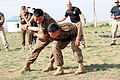 Mongolian Armed Forces take part in a mechanical advantage control holds competition during Non-Lethal Weapons Executive Seminar (NOLES) 13 at the Five Hills Training Area in Mongolia Aug. 19, 2013 130819-M-DR618-014.jpg