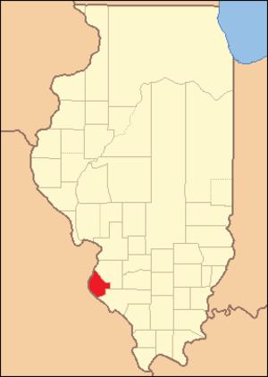 Monroe County, Illinois - Image: Monroe County Illinois 1825