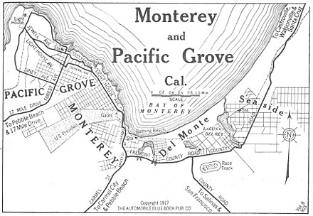 Monterey Bay area in 1917