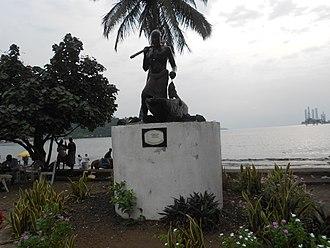 Limbe, Cameroon - Monument celebrating 150 years of Limbe.