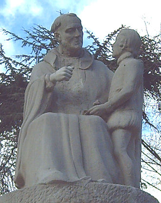 Pedro Ponce de León - Dom Pedro Ponce de León teaching a pupil (Detail of a monument in Madrid, Spain.)
