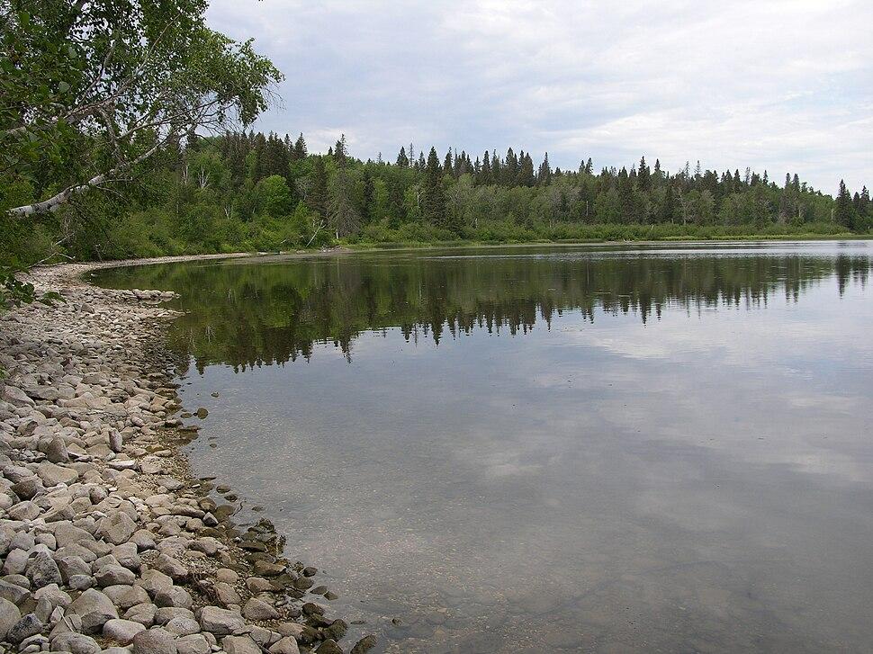 Moon Lake shoreline - Riding Mountain National Park