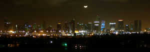 "View of the ""Moon over Miami"", a famous phrase that has inspired many pop culture items, including a movie, TV series, song and dish"