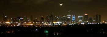 Vista notturna di Miami