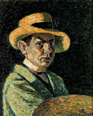 Wilhelm Morgner - Self-portrait (1910)