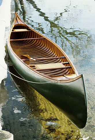 Canoe - A B.N. Morris Canoe Company wood-and-canvas canoe built approximately 1912