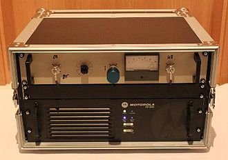 Two-way radio - Motorola MOTOTRBO Repeater DR3000 with duplexer mounted in Flightcase, 100% Duty cycle up to 40 W output