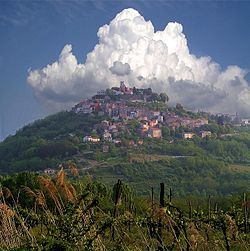Motovun is located in the center of Istria