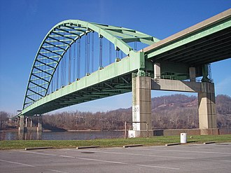 Moundsville, West Virginia - Image: Moundsville Bridge