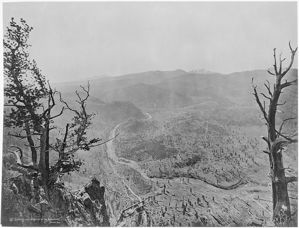 Mount Harvard and the Valley of the Arkansas - NARA - 517702
