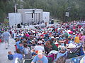 Mount Rushmore crowd and stage.JPG