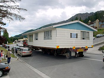Transport of a house (photo taken in New Zealand)