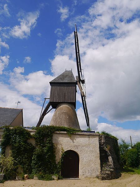 Le moulin cavier de la Bigottière.