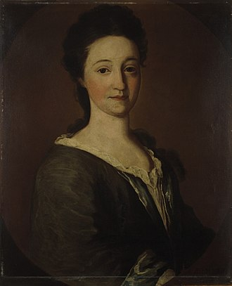 James Pierpont (minister) - Mary Hooker Pierpont, wife of Rev. James Pierpont. Their daughter Sarah Hooker Pierpont married Rev. Jonathan Edwards