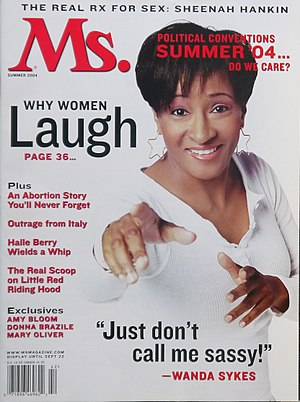 Wanda Sykes - Sykes on the cover of Ms. magazine in 2004